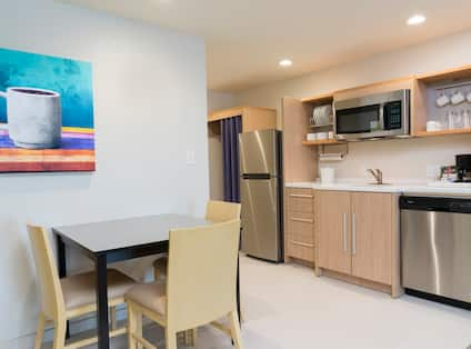 Guestroom Dining and Kitchen Area