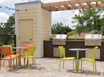 Outdoor Grills On Pool Patio