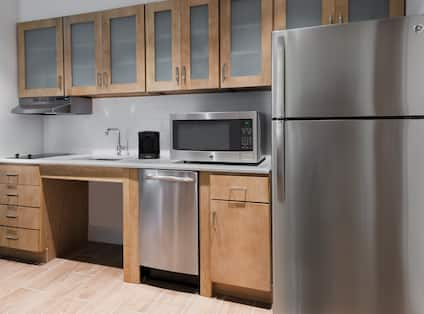 Accessible Guestroom Kitchen with Appliances