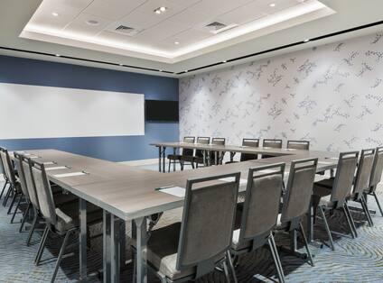 U-Shape Table Setup in Meeting Room