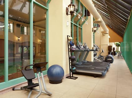 Fitness Center with Workout Equipment