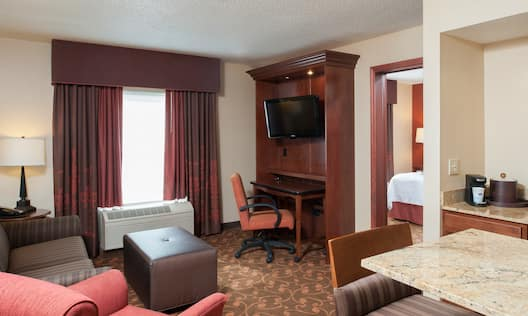 King Bed Suite Living Area