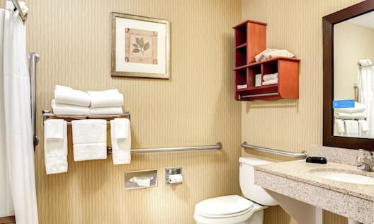 Accessible Bathroom with Vanity and Amenities