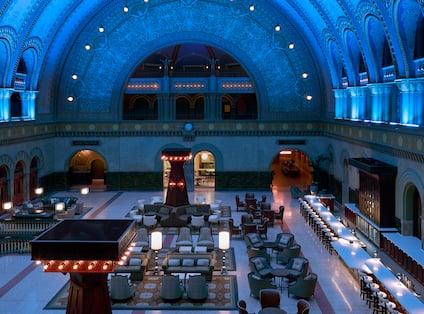 Grand Hall Blue Ceiling