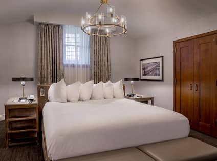 Large Bed in Guest Room