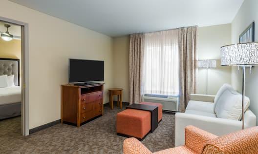 1 King Bedroom Suite Living Room