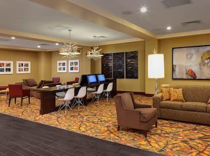 Hotel Business Center Lobby
