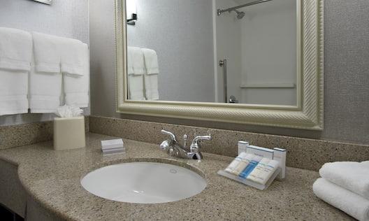Close-Up of Vanity in Guest Bathroom