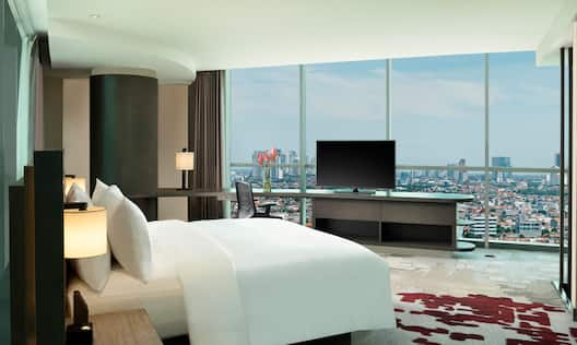 Loft Suite Master Bedroom With TV And View