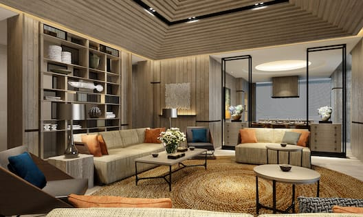 Interior Presidential Suite with Lounge Area