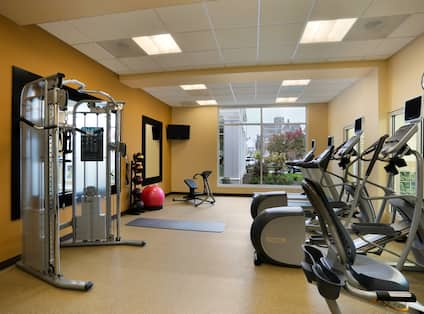 Fitness Center with Weight Machine, Cycle Machine and Cross-Trainers