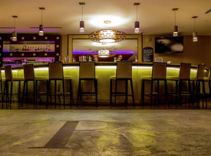 Refinery Bar With Purple Accent Lights