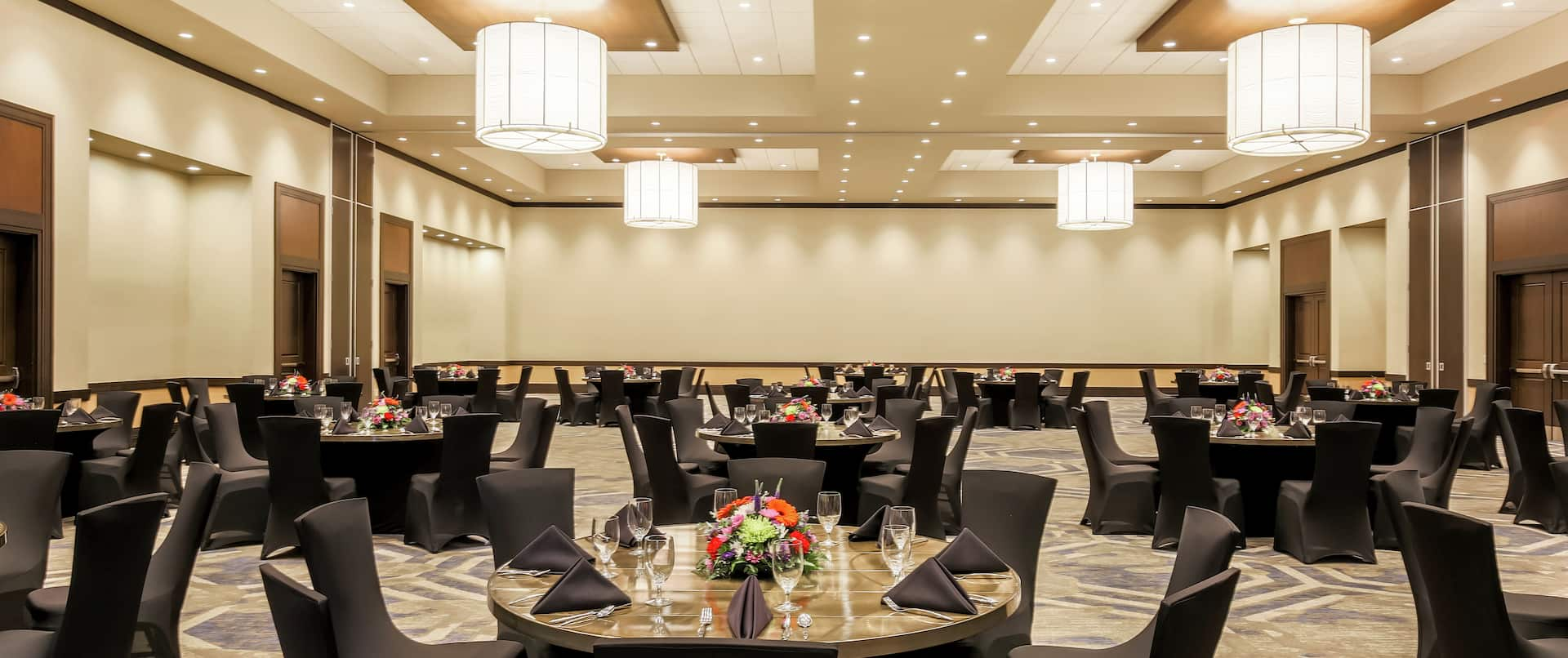 Meeting Space Set In A Luncheon Setting