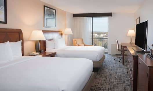 Double Bed with Balcony View