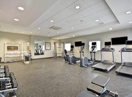 Fitness Room with Cardio Equipment