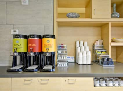 Hot Coffee and Tea Station in Lobby