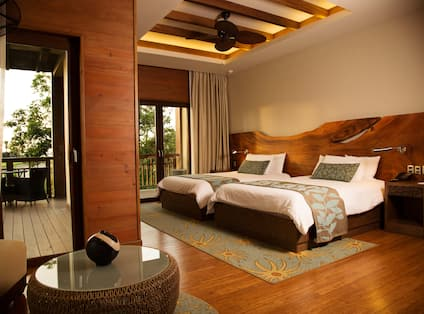 Room with Two Beds and Balcony