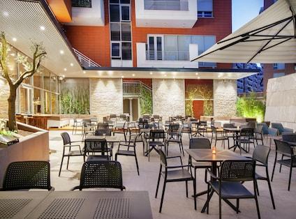 Outdoor Terrace Olive Tree Restaurant