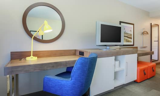 Guest Room Work Desk and Amenities