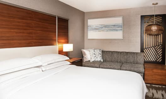 Guest Room with a King sized Bed and Sofa