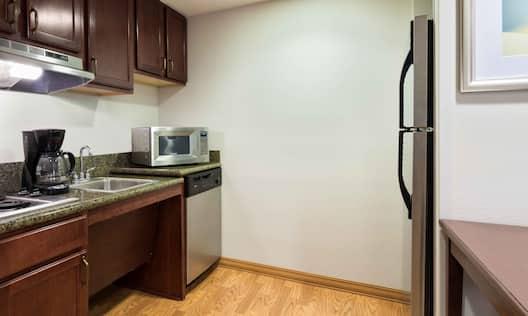 Accessible Guestroom Suite Kitchen