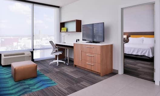 King Corner Suite Amenities and Bedroom