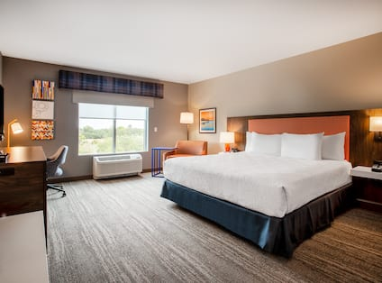 Accessible Guest Room with Large Bed and Desk Area