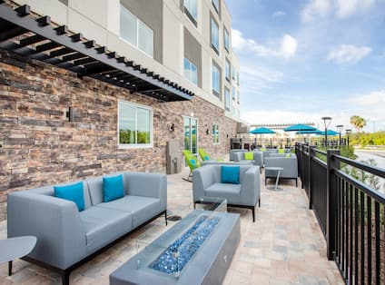 Patio with Comfortable Seating Area
