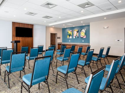 HDTV in Meeting Room Setup Theater Style
