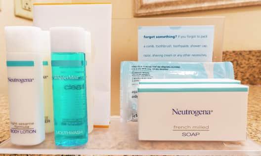 Close-Up of Neutrogena Bathroom Products