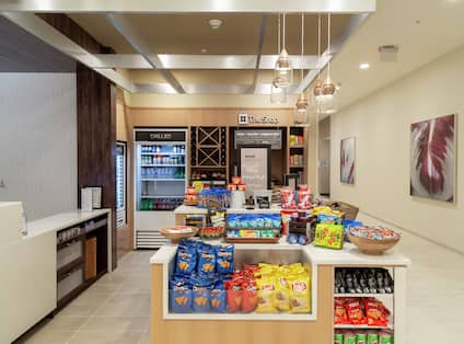 The Shop with Snacks and Beverages