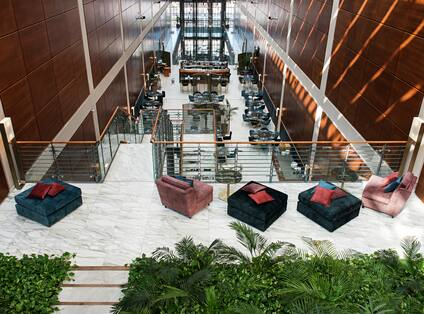 Terrace Sitting Area with Atrium Lobby View