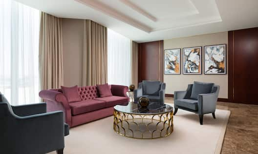 Living Room Suite with Sofa, Armchairs and Small Coffee Table