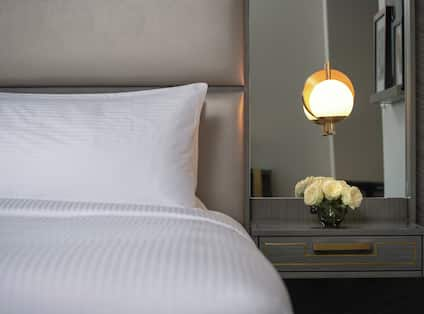 King Premier Guestroom with Bed Detail