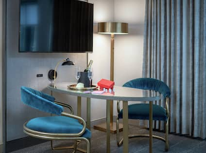 Suite Seating Area with Room Technology