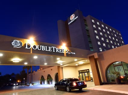 DoubleTree Hotel Exterior at Night