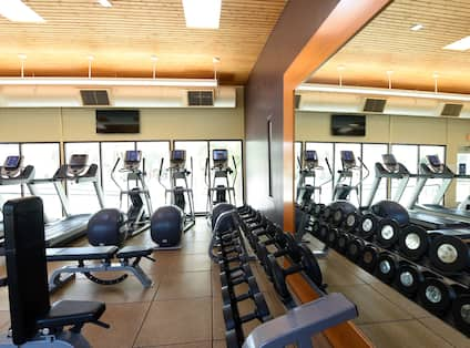 Fitness Center with Treadmills and Weights