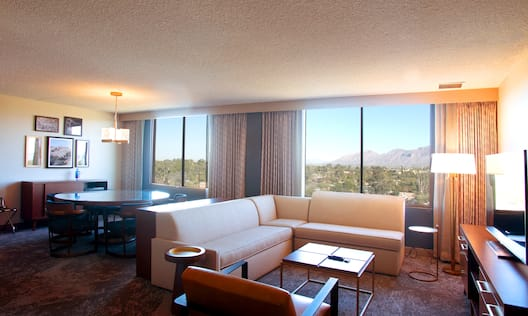 Suite Living Room with Large Windows