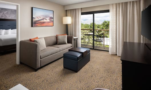Suite Living Area with Balcony