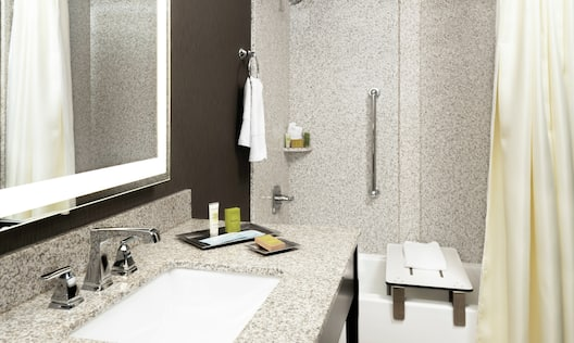 Accessible Vanity and Bathroom with Tub