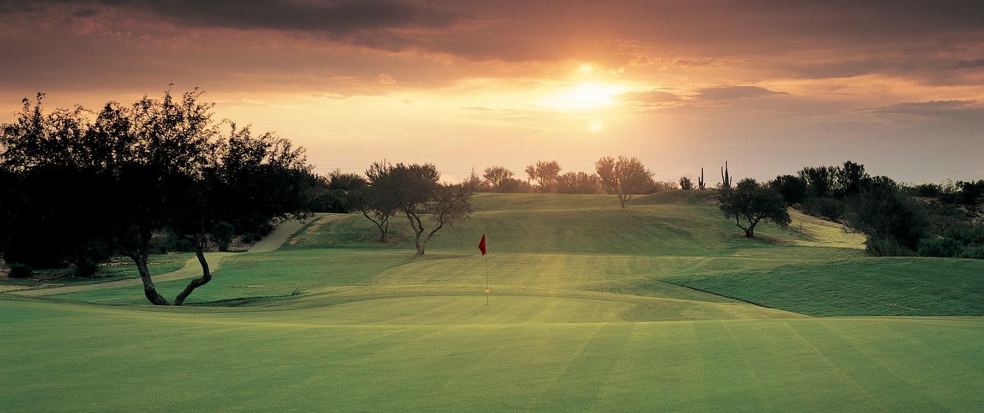 Sunset on the Conquistador Golf Course