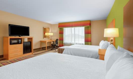 Standard Double Queen Bedroom with TV Microfridge