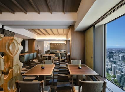 Executive Lounge with Large Windows and Beautiful Views