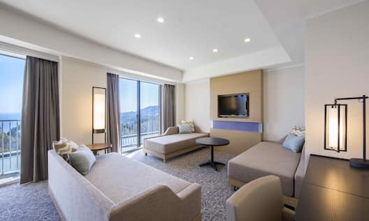 Guestroom with Room Technology, Lounge Area, and Outside View
