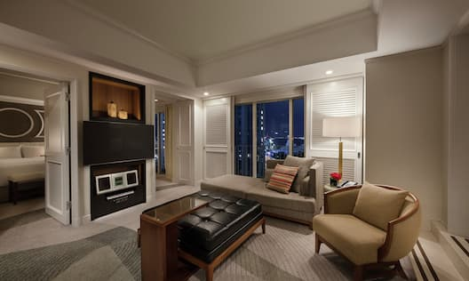 Suite with Terrace, Lounge Area, Outside View, and Room Technology