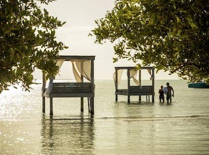 Private Cabanas on Beach