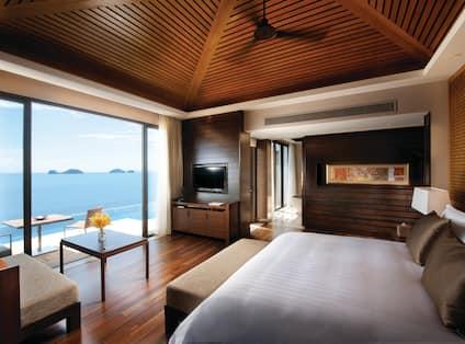 Oceanview Pool Villa King Bed Guestroom