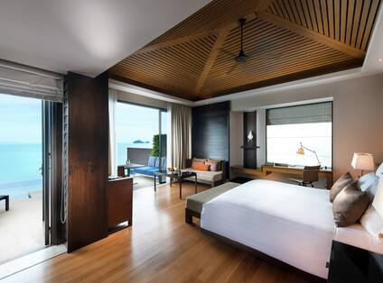 Bed with outside view