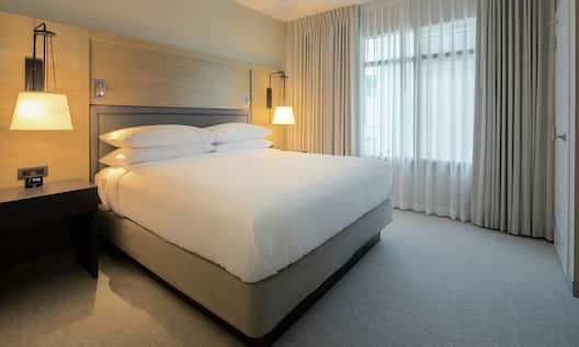 King Bed in Suite Bedroom