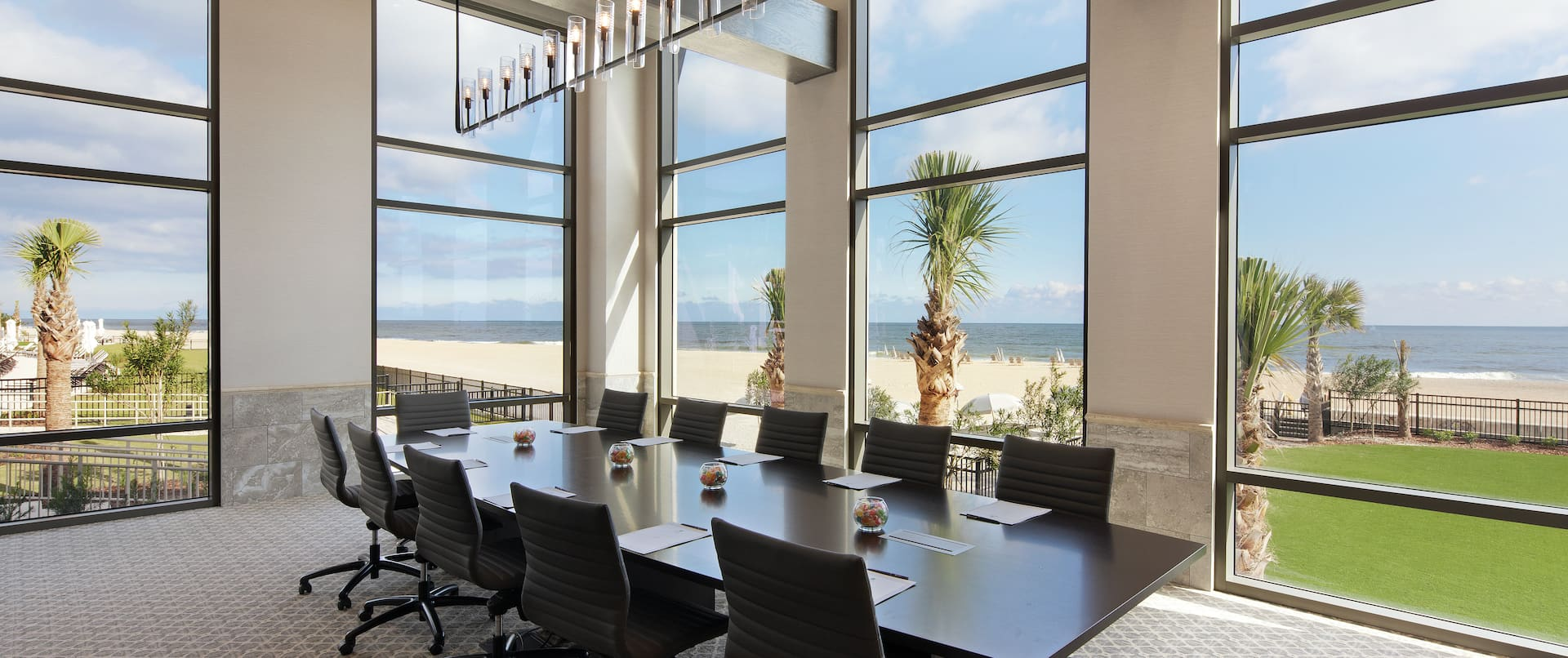 Conference Table and Chairs in Surf Crest Boardroom with Ocean View